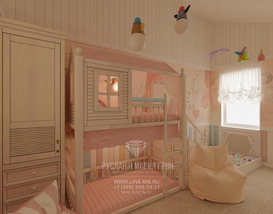Фото интерьера детской в таунхаусе