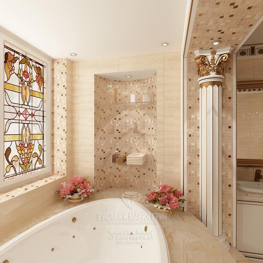 Фото интерьера ванной в стиле модерн