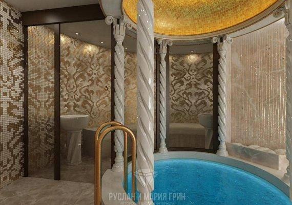 Дизайн интерьера джакузи в доме