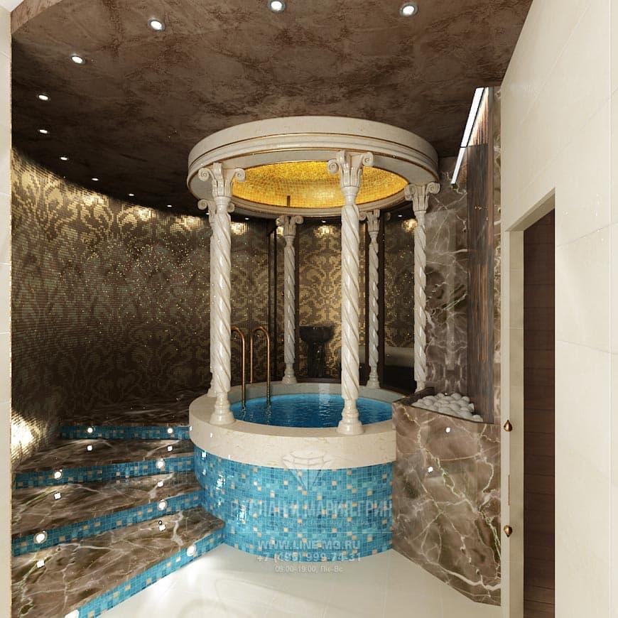 Дизайн интерьера бани в загородном доме