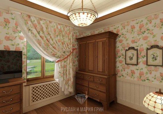 Интерьер гостевой комнаты в доме