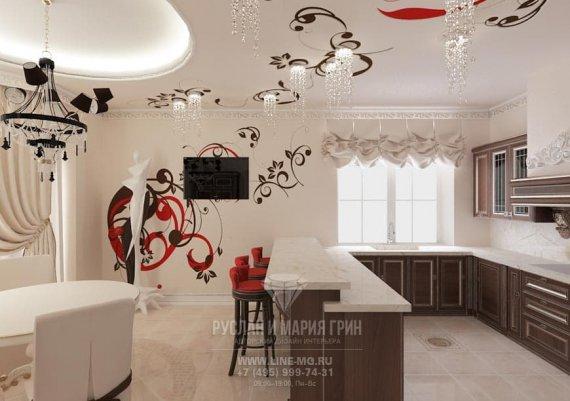 Дизайн интерьера кухни в стиле арт-деко