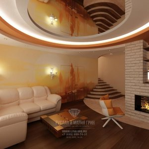 Дизайн таунхауса с лестницей