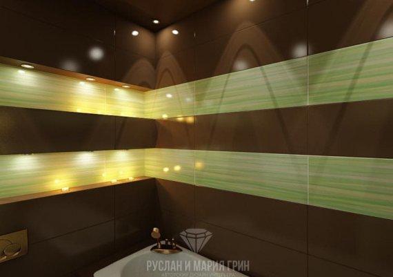Дизайн интерьера санузла в стиле арт-деко