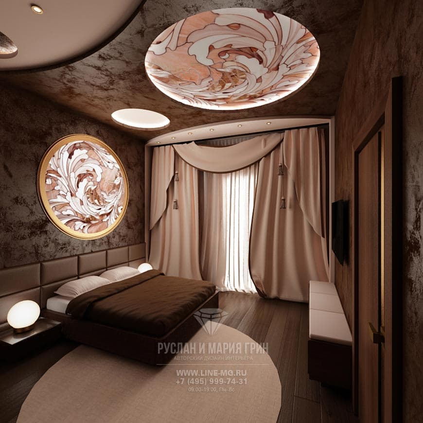 Дизайн интерьера в кофейных тонах