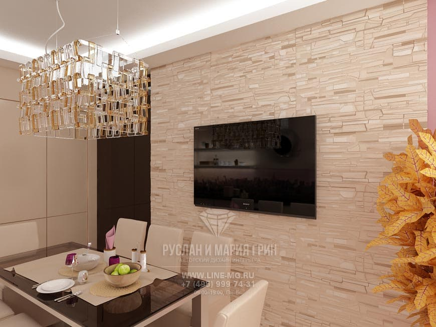 New in 2015: Picture of a kitchen-dining room in beige color