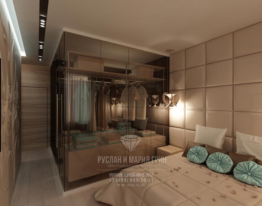 Современный интерьер гардеробной фото