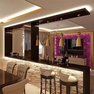 Дизайн барной зоны в городской квартире