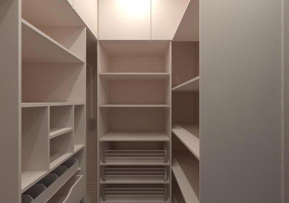 Меблировка гардеробной комнаты