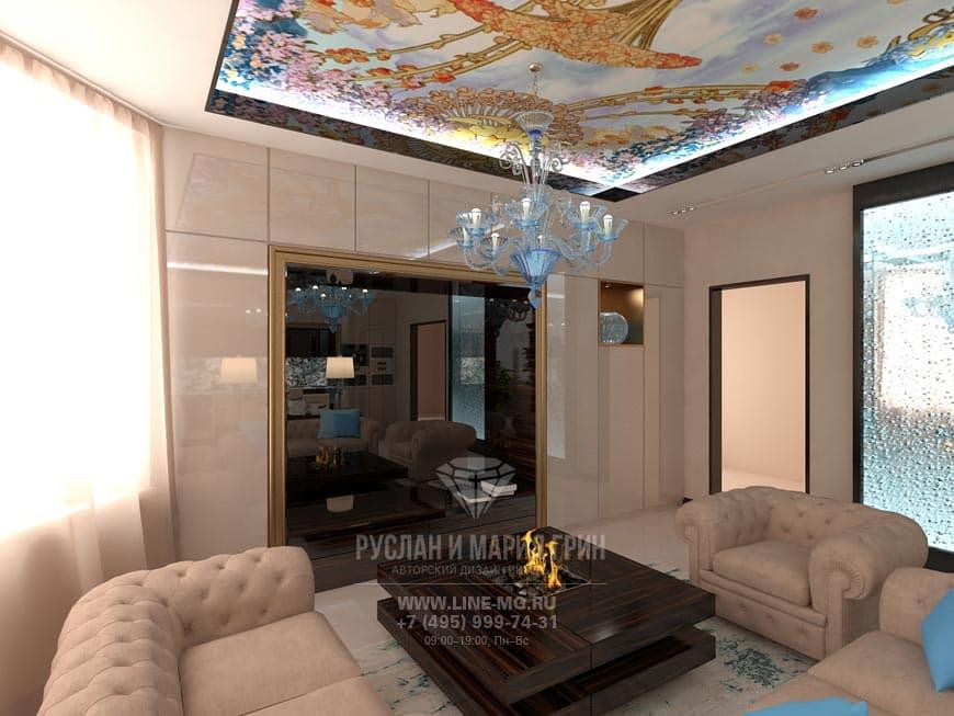 Фото интерьера диванной зоны в квартире