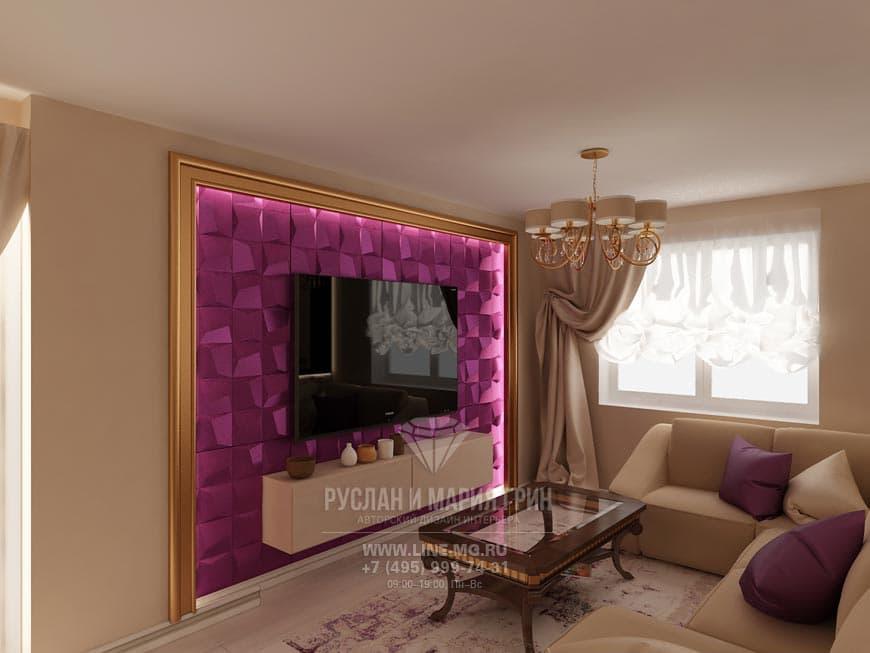 Фото интерьера гостиной в минималистическом стиле на улице Маршала Захарова