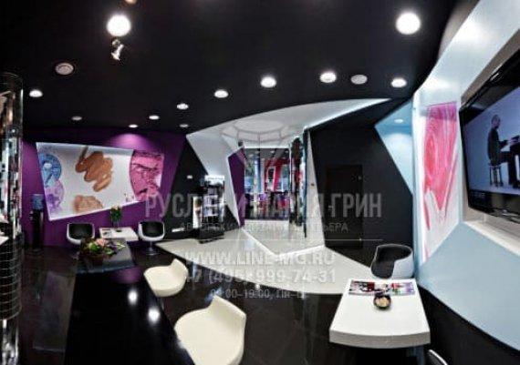 Фото футуристического интерьера салона красоты  «Cool People»