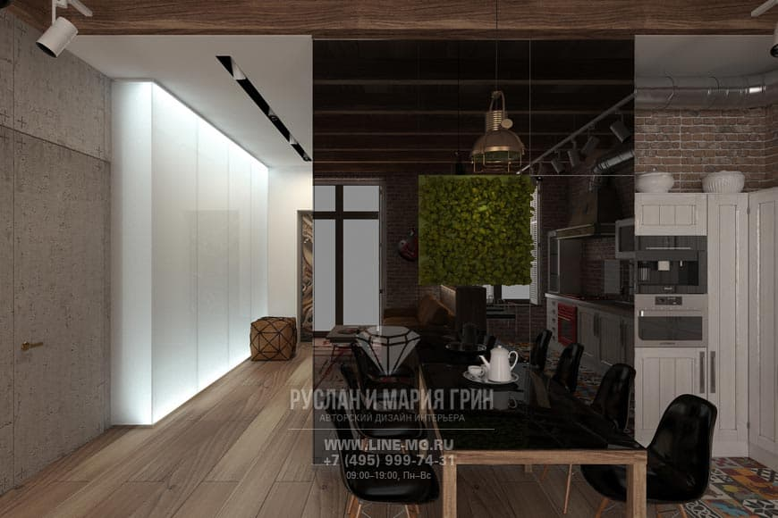 Английский стиль в интерьере кухни. Фото обеденной зоны