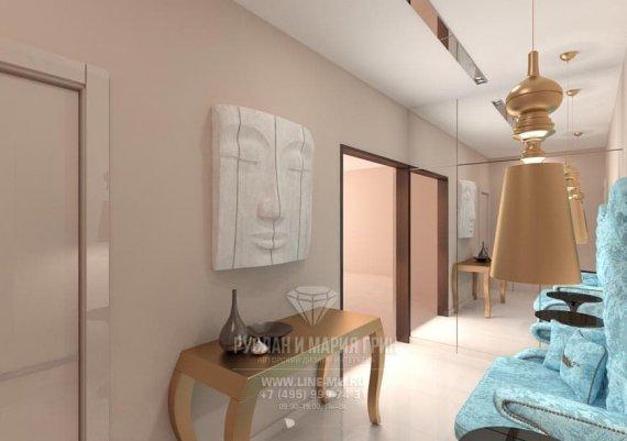 Эклектика в дизайне интерьера холла