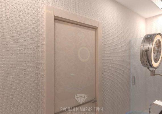 Интерьер дизайна санузла в современном стиле с элементами арт-деко