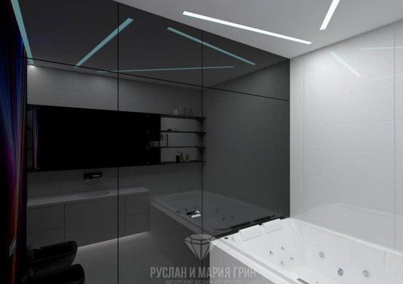 Дизайн интерьера ванной в футуристическом стиле