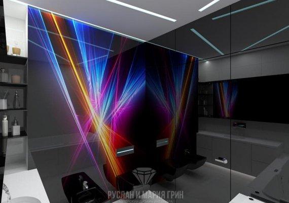 Футуристический интерьер ванной