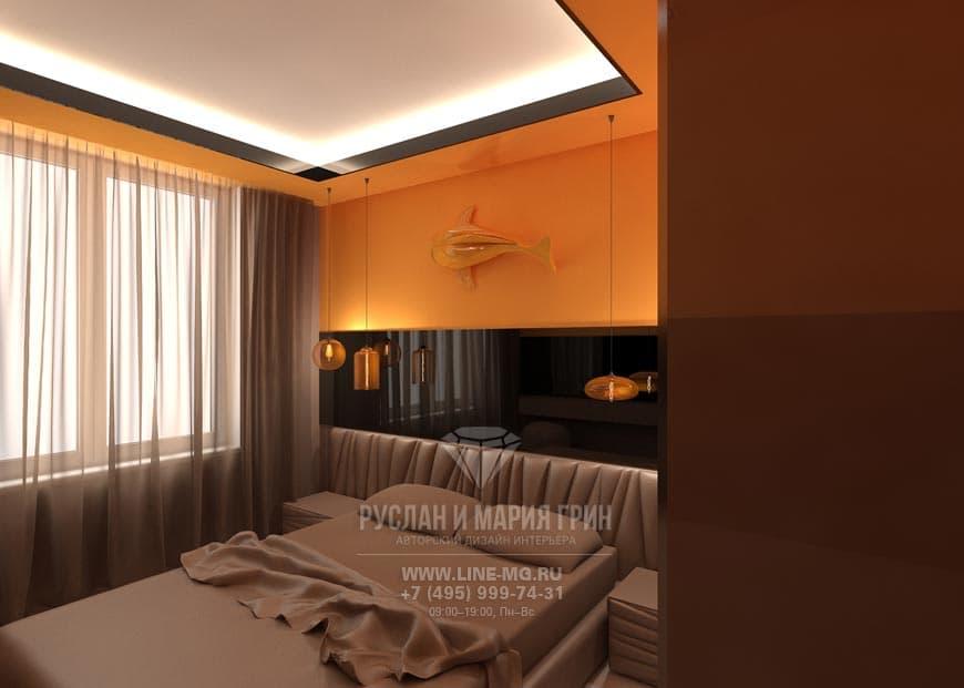 Фото спальни. Дизайн квартиры в современном стиле