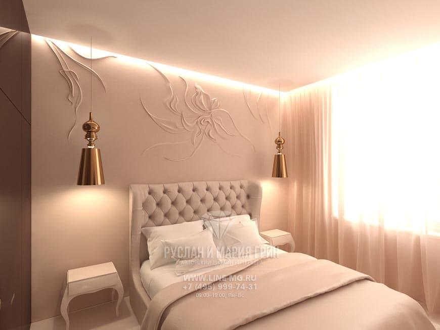 Фото интерьера спальни в современном стиле