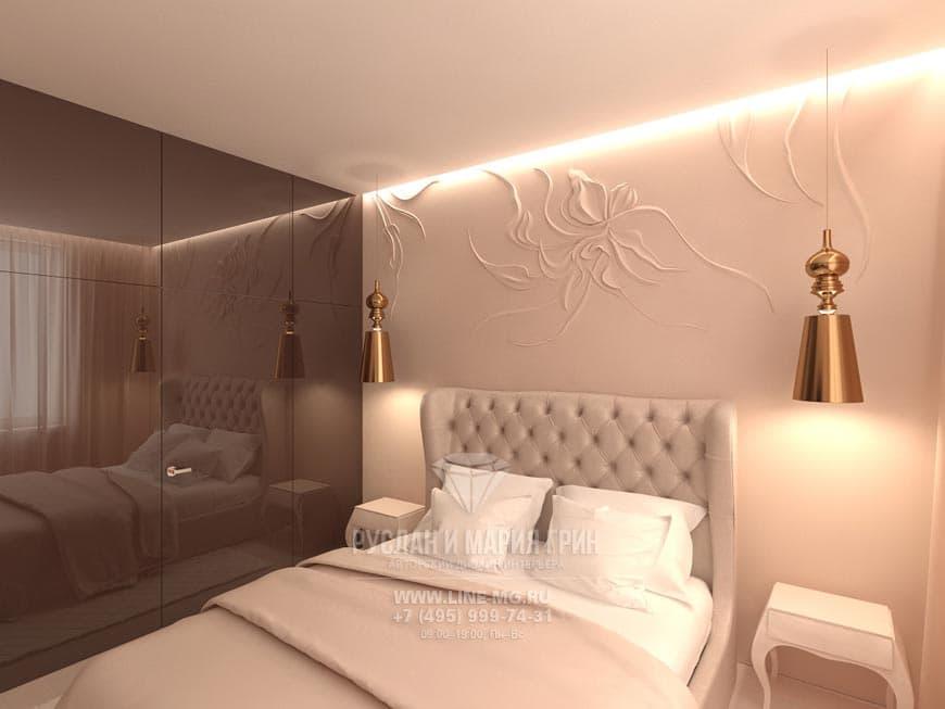 Дизайн спальни в бежевых оттенках: фото