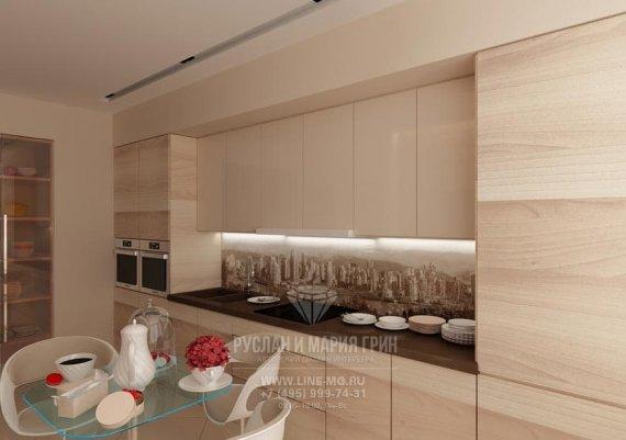 Интерьер кухни в доме в классическом стиле