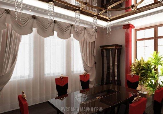 Дизайн интерьера столовой в стиле арт-деко