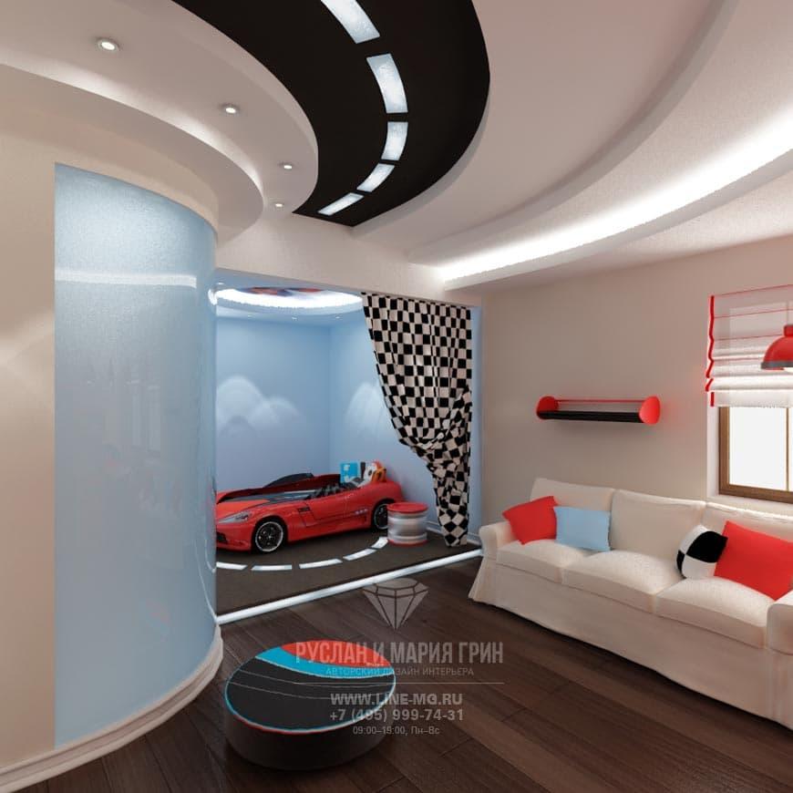 Детская комната для юного автогонщика