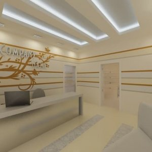 Designed in the style of high-tech office on the street Lyusinovskaya