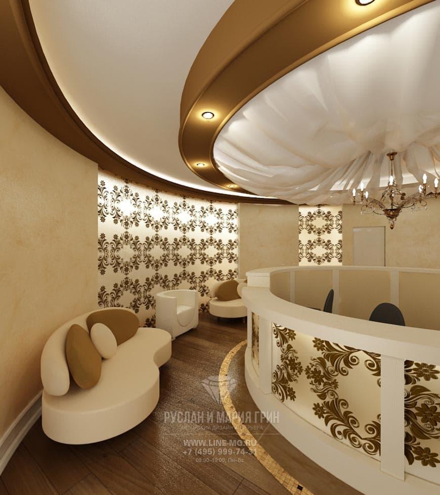 Интерьер второго этажа салона красоты