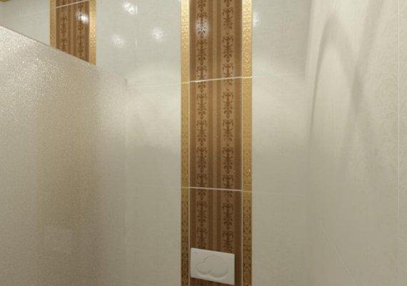 Интерьер санузла в спа-салоне в коричневом цвете с элементами арт-деко и модерна