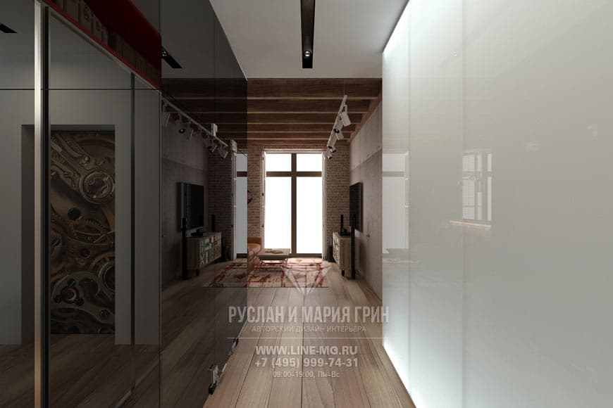 Английский стиль в интерьере гостиной. Фото коридора
