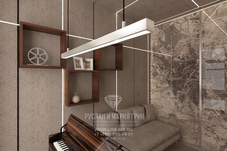 Английский стиль в интерьере квартиры. Фото кабинета