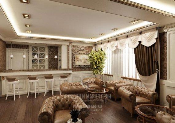 Классический стиль интерьера мини-отеля «Рыбинский»