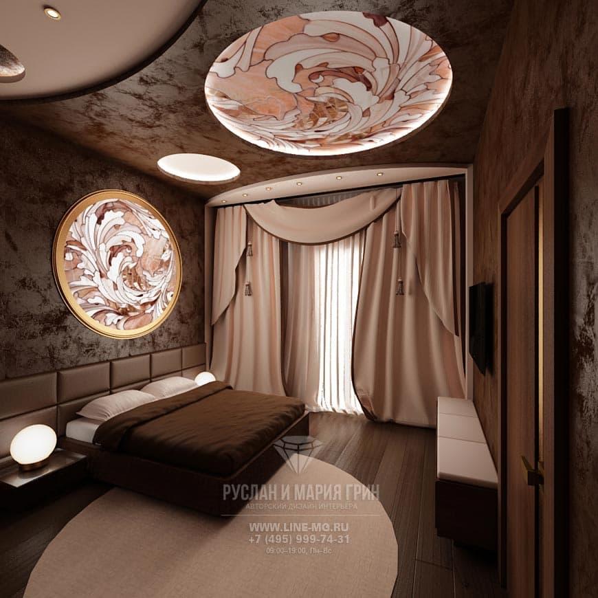 Фото интерьера спальни в таунхаусе