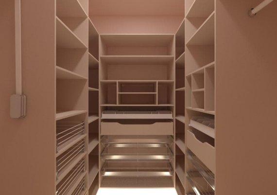 Фото интерьера гардеробной в экостиле