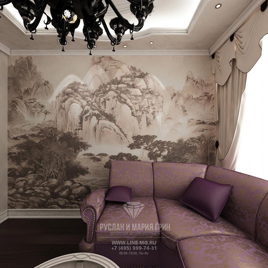 Фото дизайна гостиной с фотообоями: современные идеи