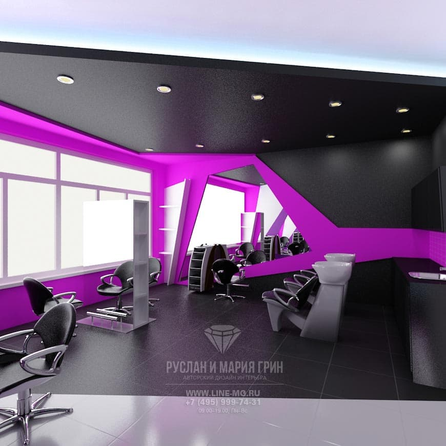 Design of the beauty salon «Cool People». Photo