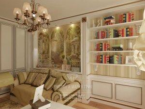 Фото интерьера кабинета в классическом стиле