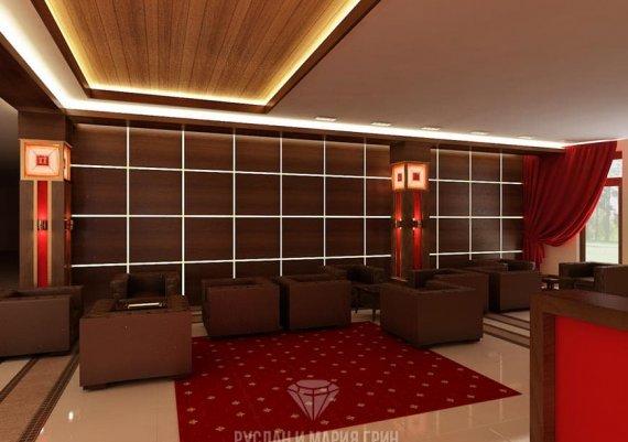 Фото интерьеров гостиницы и оздоровительного центра «Прометей»