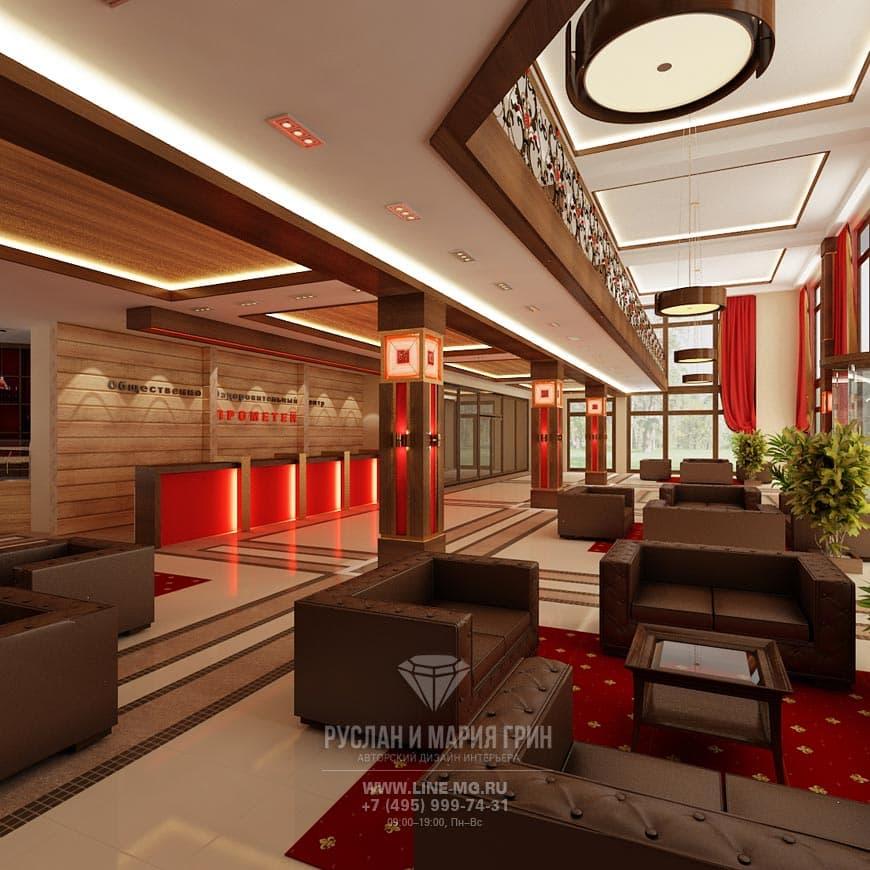 Фото дизайна интерьера мини-отеля: ресепшн