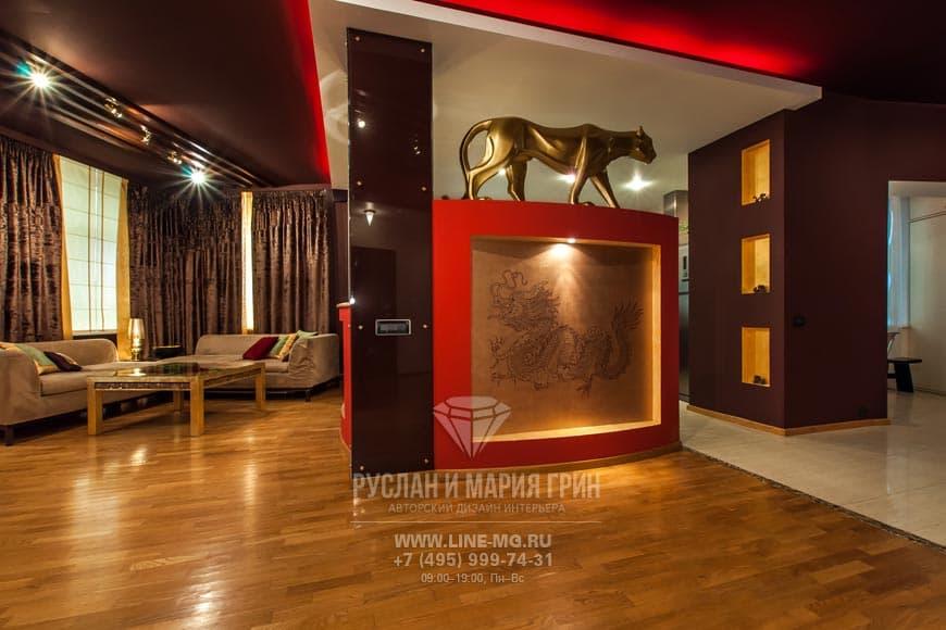 Фото интерьера гостиной из телепрограммы «Про декор» на ТНТ