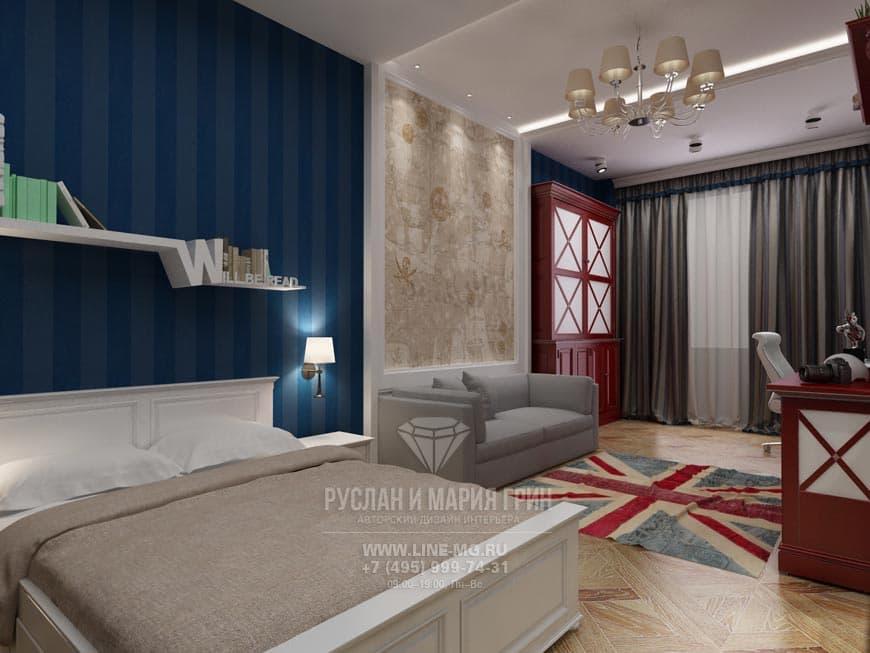 Английский стиль в интерьере квартиры в ЖК «Велл Хаус». Фото детской