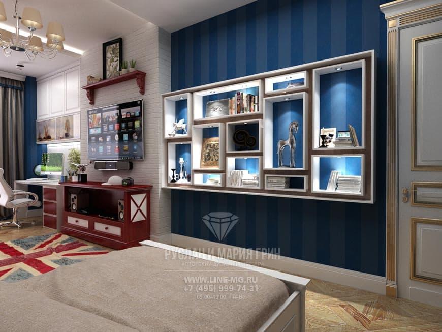 Английский стиль в интерьере квартиры в ЖК «Велл Хаус». Фото детской комнаты