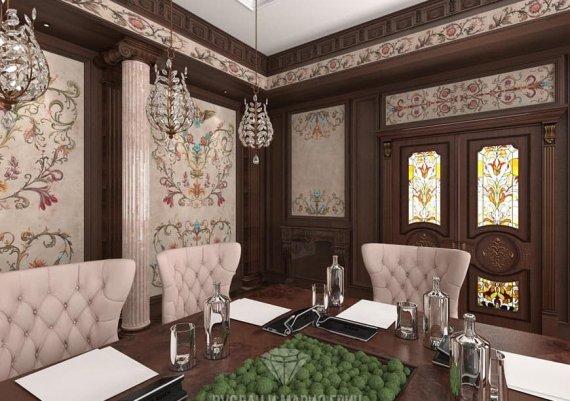 Фото интерьера конференц-зала в классическом стиле