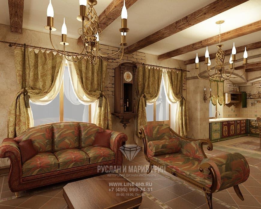 Дизайн кухни-гостиной: фото