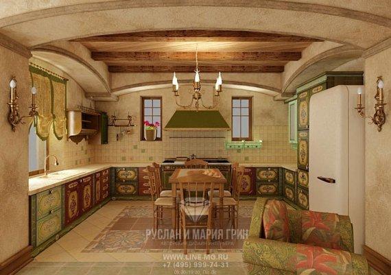 Фото интерьера гостиной-кухни