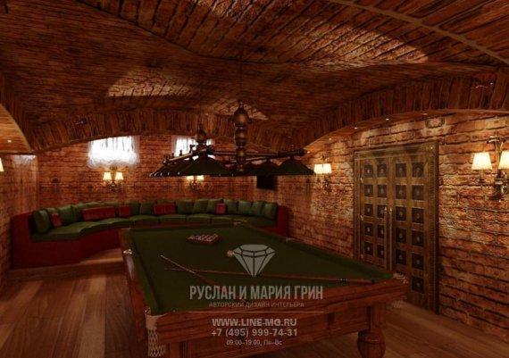 Фото интерьера подвального помещения