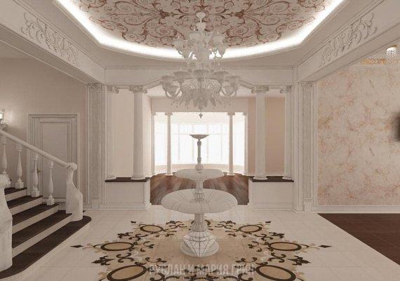 Фото интерьера холла в классическом стиле