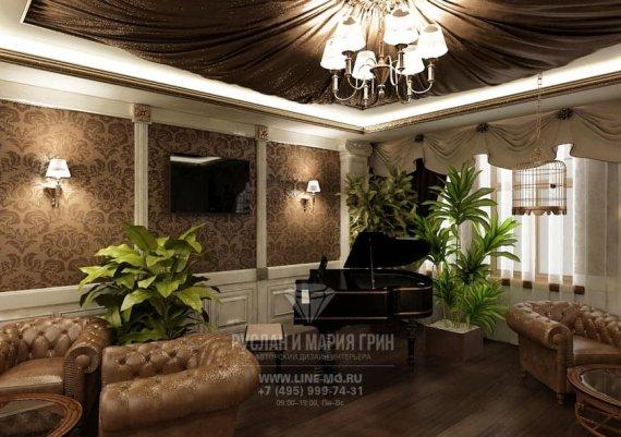 Фото интерьера мини-отеля «Рыбинский» в классическом стиле