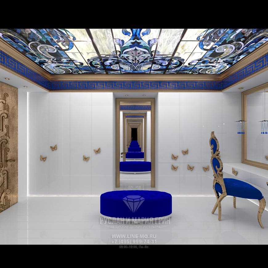 Фото интерьера гардеробной в стиле арт-деко